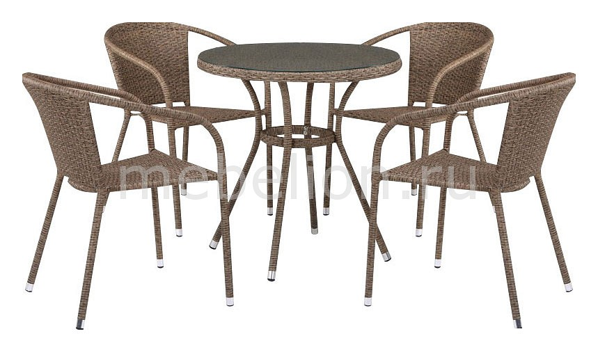 Набор уличный T282ANT/Y137C-W56 Light Brown 4Pcs