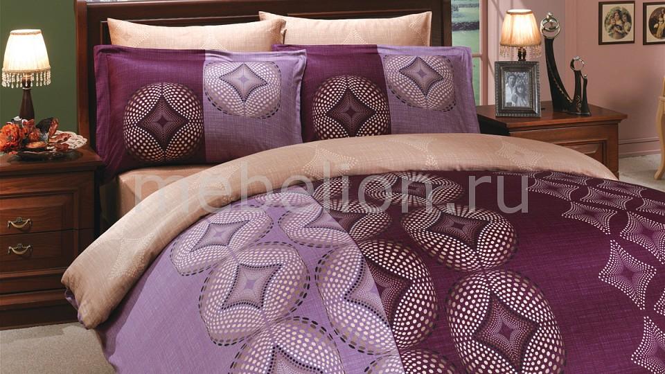 Купить Комплект семейный GRIS, HOBBY Home Collection, коричневый, фиолетовый, хлопок 100%