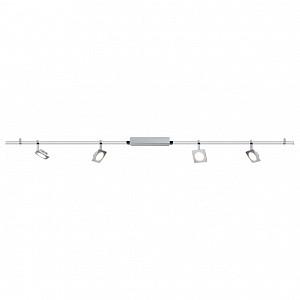 Спот поворотный Quadled, 4 лампы  по 4 Вт., 1.24 м², цвет никель матовый