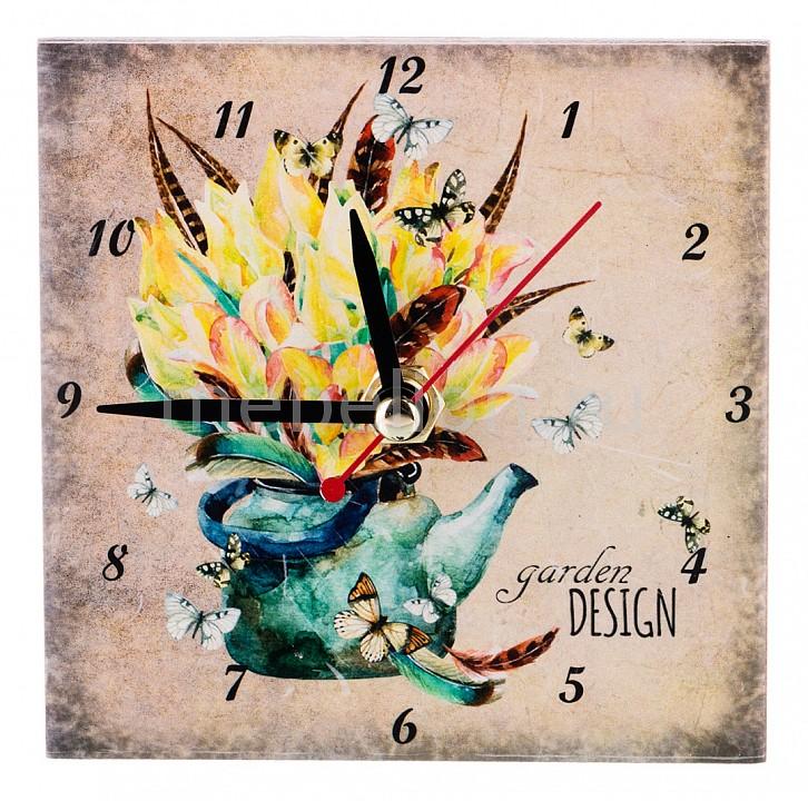 Настольные часы АРТИ-М (10x10 см) Сады в цветах 354-1317 арти м 30х60 см уютный дворик 354 920