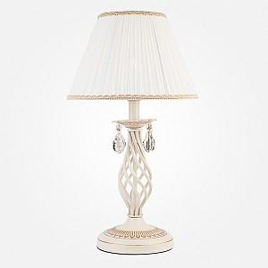 Настольная лампа декоративная Amelia 10054/1 белый с золотом/прозрачный хрусталь Strotskis
