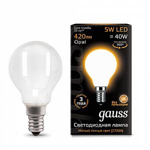 Лампа светодиодная 1052 E14 150-265В 5Вт 2700K 105201105