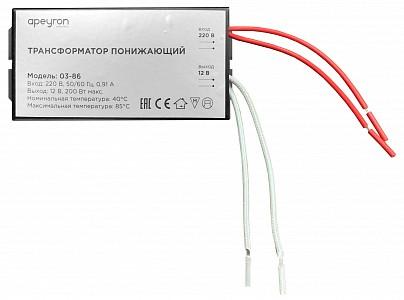 Трансформатор с проводом 70-200Вт 12В 03-86