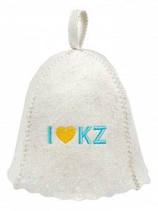 Шапка для бани универсальная I love KZ