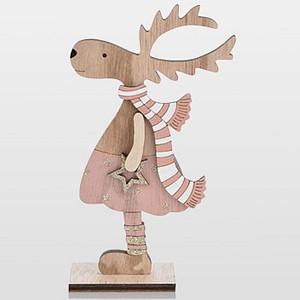 Фигур настольный [18 см] Рождественский Олень 504-006