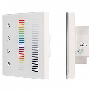 Панель-регулятора цвета RGBW сенсорная встраиваемая Sens SR-2834RGBW-AC-RF-IN White (220V,RGBW,1 зона)