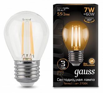 Лампа светодиодная E27 150-265В 7Вт 2700K 105802107