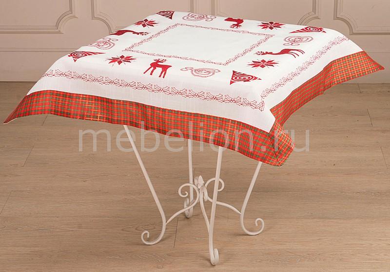 Купить Скатерть 829-09, АРТИ-М, белый, красный, полиэстер 100%