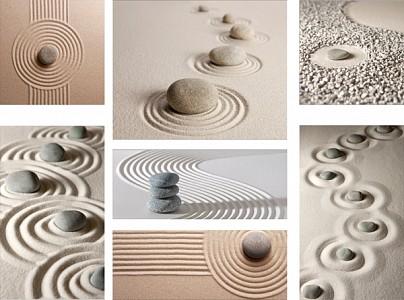 Набор из 7 картин (110х80 см) Камни на песке HE-110-117