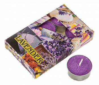 Набор из 6 свечей ароматических (4x2 см) Лаванда 348-489