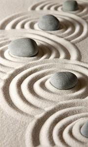 Картина (30х50 см) Камни на песке HE-101-506