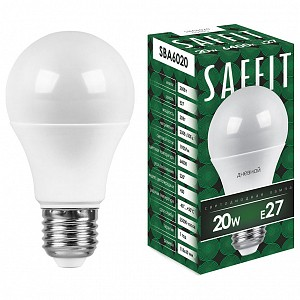 Лампа светодиодная SBA6020 E27 220В 20Вт 6400K 55015
