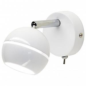 Спот поворотный Раймонд, 1 лампы  по 5 Вт., 2.5 м², цвет белый глянцевый