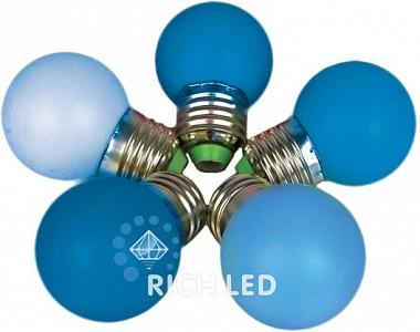 Лампа светодиодная RL-BL E27 220В 1Вт синий RL-BL-E27-G45-B