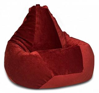 Кресло-мешок Бордовый Микровельвет L