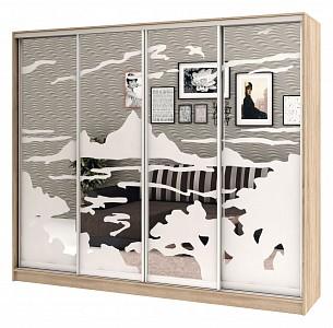 Шкаф-Купе с рисунком Стандарт Песок 4 BRN_1127