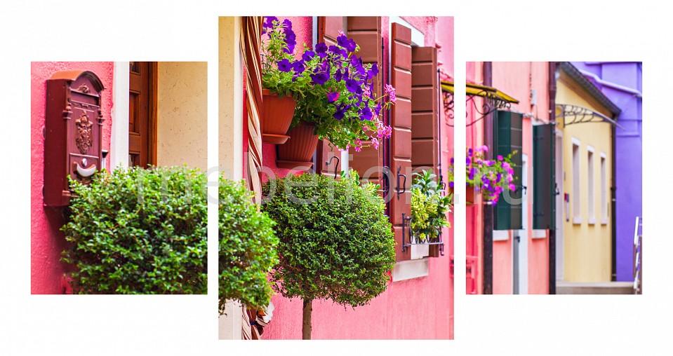 Набор панно Ekoramka Набор из 3 панно (100х550 см) Цветы и окна 174357М55100 окна