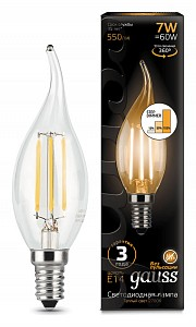 Лампа светодиодная [LED] Gauss E14 7W 2700K