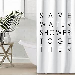 Штора для ванной (145x180 см) Save water