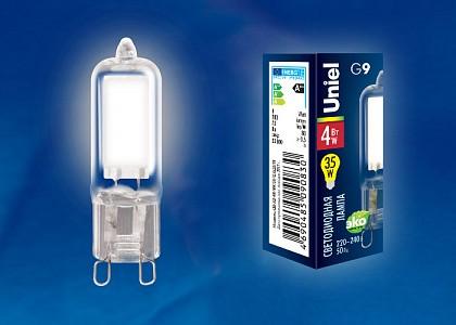 Лампа светодиодная LED-JCD G9 220-240В 4Вт 4000K LED-JCD-4W/NW/G9/CL GLZ01TR картон