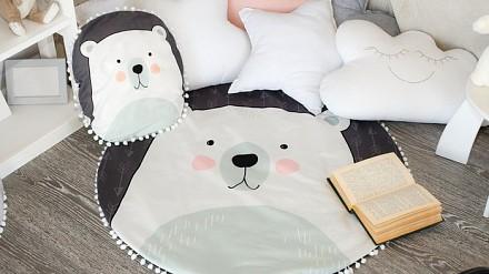 Набор из пледа детского и подушки (90x90 см) Мишка