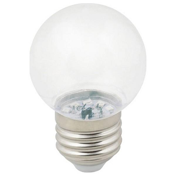 Лампа светодиодная Sky E27 220-240В 1Вт 3000K LED-G45-1W/3000K/E27/CL/С UL_UL-00005807