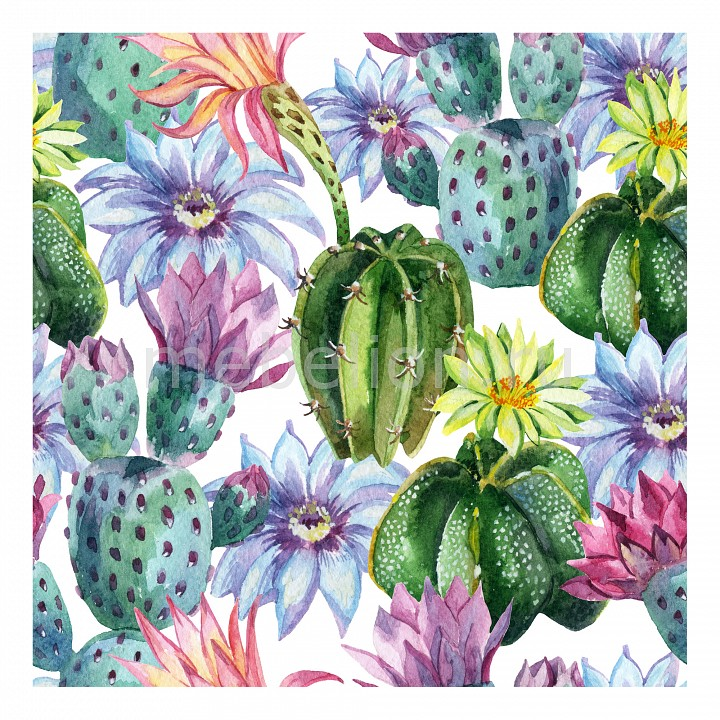 Панно Ekoramka (40х40 см) Цветущий кактус 11495273 набор для вышивания подушки collection d art цветущий кактус 40 х 40 см