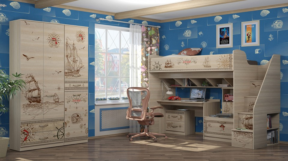 Комод детский Ижмебель IZH_Kvest_system_1 от Mebelion.ru