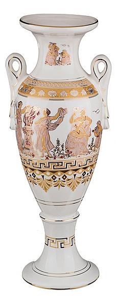 Ваза напольная АРТИ-М (60 см) Белая Греция 54-275