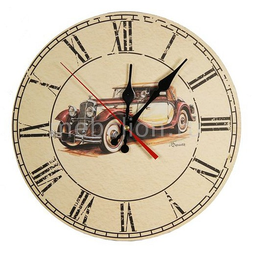 Настенные часы Акита (30 см) Автомобиль C54 цена и фото