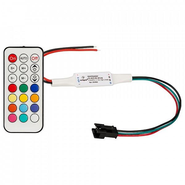 Контроллер-регулятор цвета RGBW с пультом ДУ CS-2015-RC-RF21B (1024pix, 5-24V, ПДУ 21кн)
