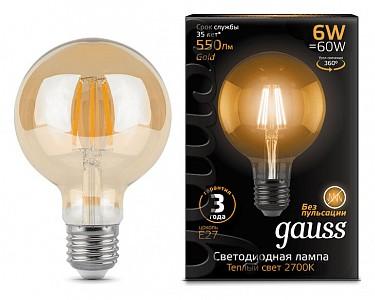 Лампа светодиодная [LED] Gauss E27 6W 2400K