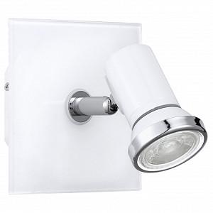 Спот поворотный Tamara 1, 1 лампы GU10 по 3.3 Вт., 0.9 м², цвет белый, хром глянцевый