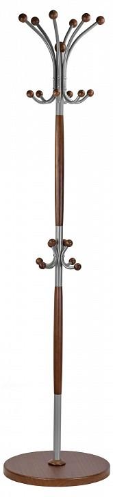 Вешалка-стойка Декарт Д-1 средне-коричневый/металлик