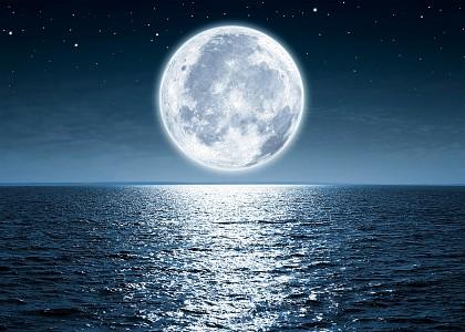 Картина (70х50 см) Луна море HE-101-860