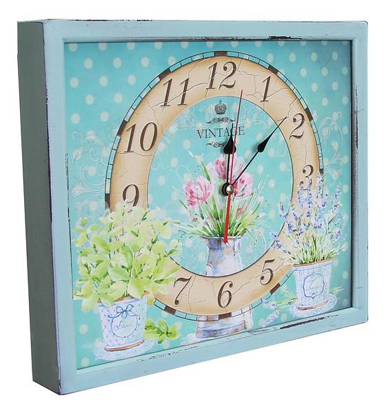 Настенные часы Акита (34х30 см) Кувшин с цветами 3034-18 цена и фото