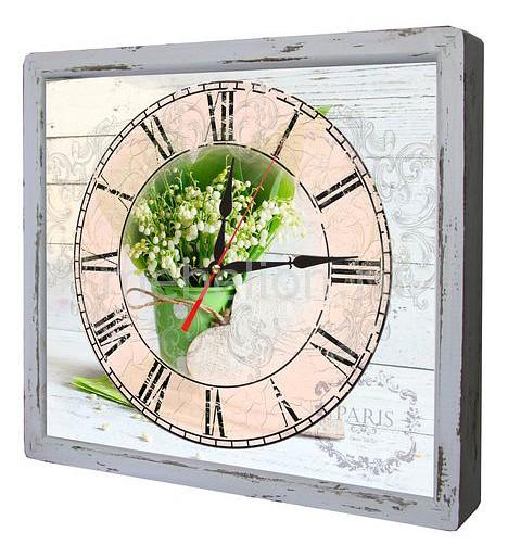 Настенные часы Акита (34х30 см) Подснежники-AKI 3034-15 цена и фото