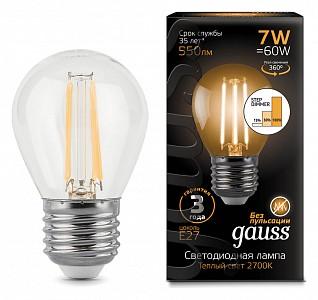 Лампа светодиодная LED Filament Globe E27 185-265В 7Вт 2700K 105802107-S