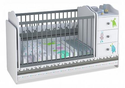 Кроватка для ребенка Polini Basic Монстрики TPL_0001185-2