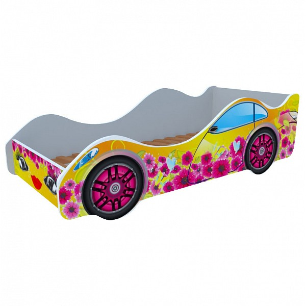 Кровать-машина Цветочная поляна M045