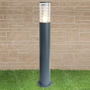 Наземный высокий светильник 1507 TECHNO silver серый