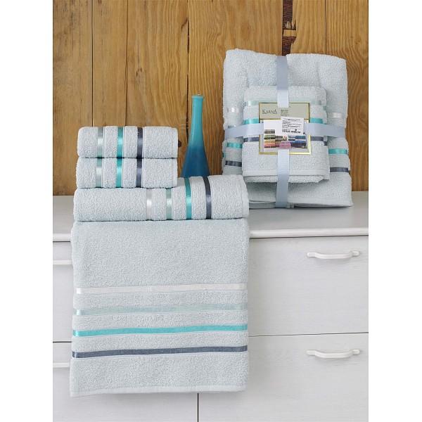 Набор из 4 полотенец для ванной BALE Karna KAR_953_CHAR028