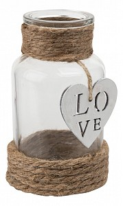 Бутылка декоративная (12 см) Сердце ZX15A-1144