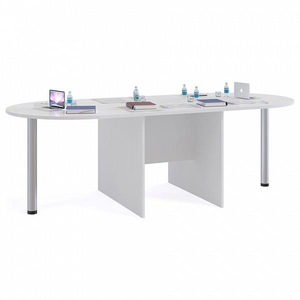 Стол для переговоров СПР-05+2 шт. СПР-03 белый Сокол SK_SPR03_SPR05_1