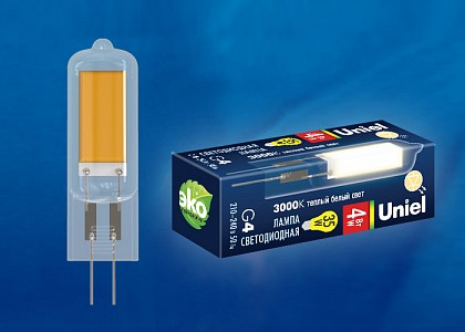 Лампа светодиодная [LED] Uniel G4 4W 3000K