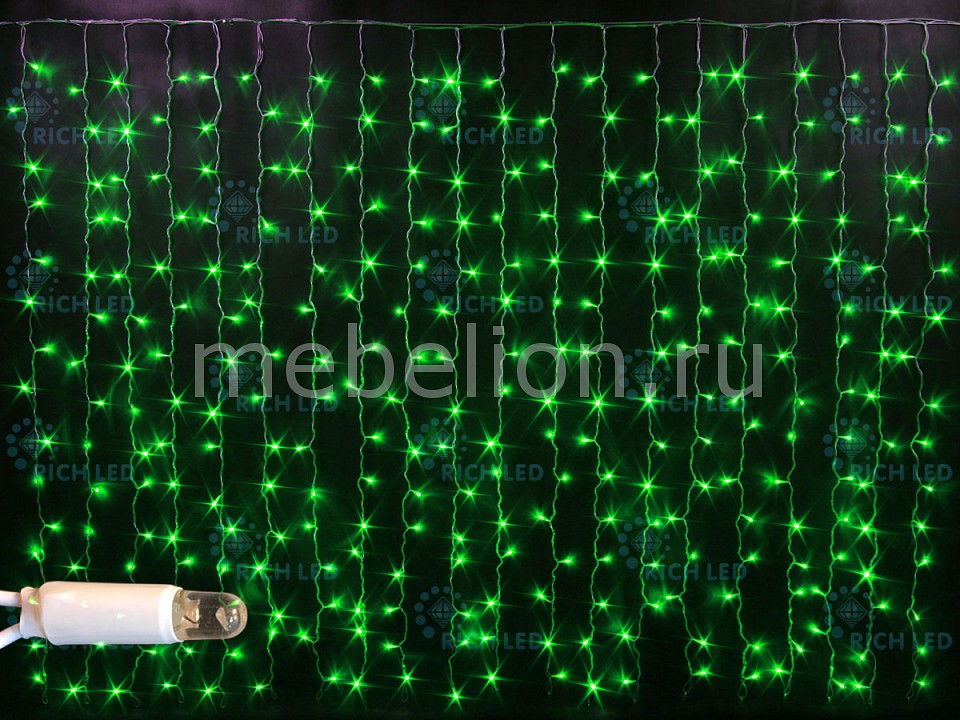 Светодиодный занавес RichLED RL_RL-CS2_1.5-CW_G от Mebelion.ru