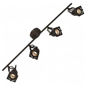 Спот поворотный Denver, 4 лампы GU10 по 5.5 Вт., 11.11 м², цвет черный матовый