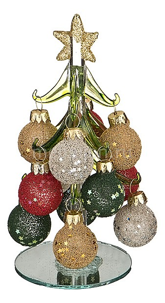 Ель новогодняя с елочными шарами АРТИ-М (15 см) ART 594-098 ель новогодняя crystal trees 1 2 м триумфальная с шишками kp8612