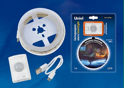 Комплект с лентой светодиодной [1 м] Smart Light ULS-R21-2,4W/4000K/1,0M/RECH SENSOR Smart Light блистер