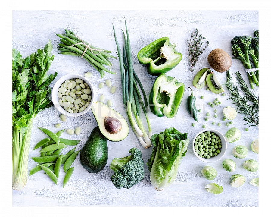 Панно Ekoramka (50х40 см) Зеленые овощи 1744063 естественных афро бирюзовый круглых бусин пряди темно зеленые 6 мм отверстие 1 мм около 63 шт нитка 15 3